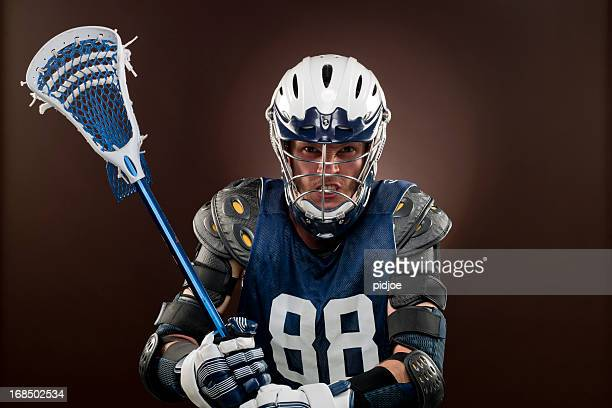 lacross player, xxxl image - lacrosse stock pictures, royalty-free photos & images