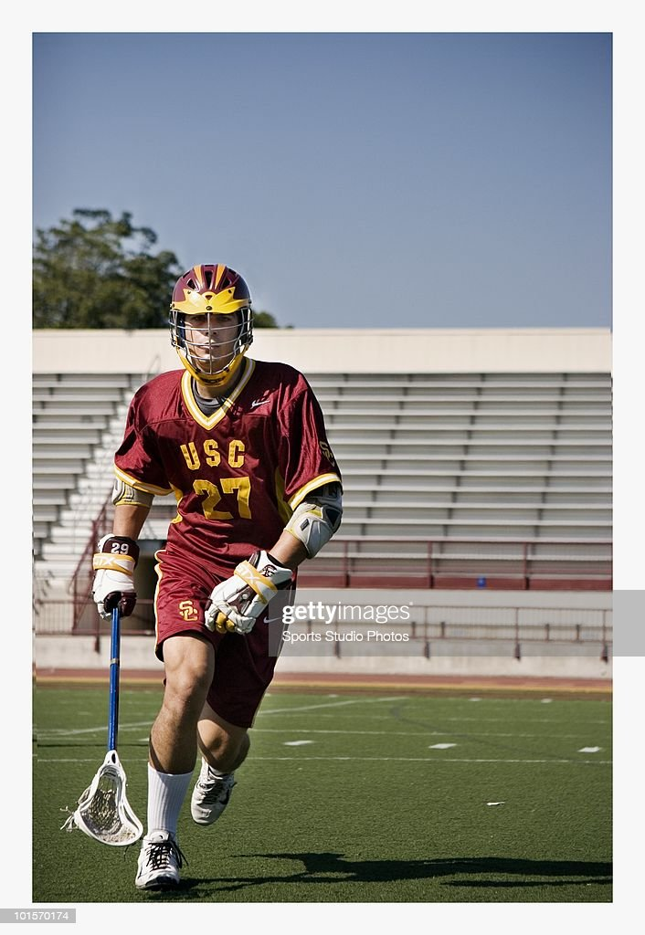 Lacrosse player photographed circa 2009 in Southern, California.