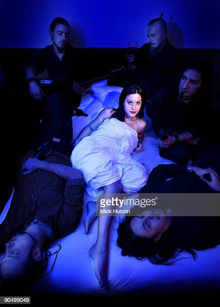 Lacuna Coil featuring lead singer Cristina Scabbia posed in Dublin Ireland on November 01 2006