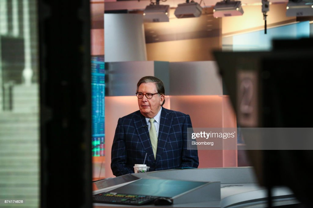 Lacy Hunt, chief economist at Hoisington Investment Management Co., speaks during a Bloomberg Television interview in New York, U.S., on Tuesday, Nov. 14, 2017. Hunt sees a good chance of an inverted curve as soon as a year from now if the Fed continues to shrink its balance sheet. Photographer: Christopher Goodney/Bloomberg via Getty Images