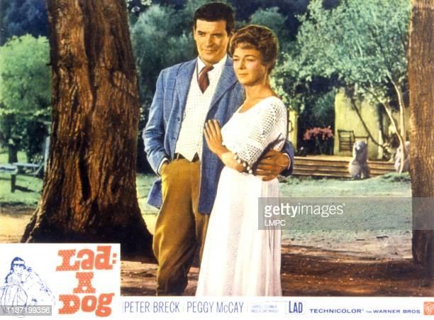A Dog lobbycard lr Peter Breck Peggy McCay on lobbycard 1962