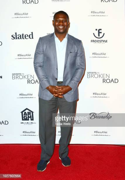 LaDainian ÒLTÓ Tomlinson attends the screening of Entertainment Studios' God Bless The Broken Road at Silver Screen Theater at the Pacific Design...