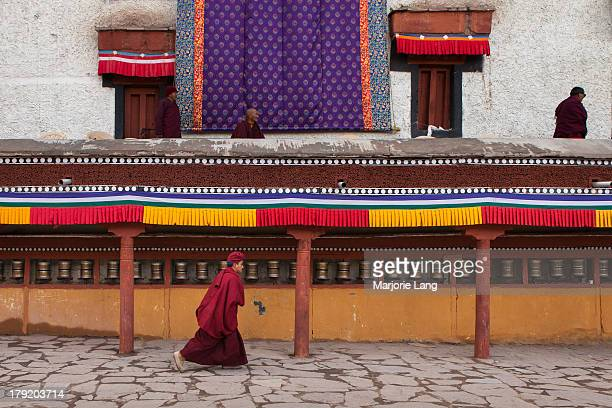 CONTENT] Ladakhi Buddhist Drukpa monk running in Hemis gompa during the annual Tsechu festival held on june 18th and 19th 2013 celebrating the birth...