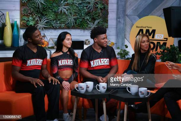 La'Darius Marshall Gabi Butler Jerry Harris and Monica Aldama join host Zach Stafford at BuzzFeed's AM To DM on January 30 2020 in New York City