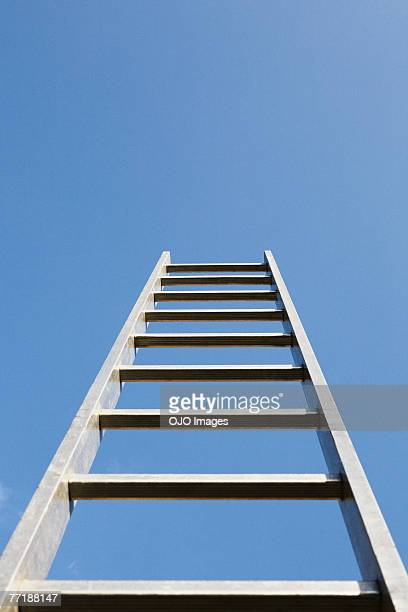 a ladder alone outdoors - ladder stock pictures, royalty-free photos & images