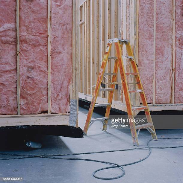 ladder and cargo containers - step ladder stock pictures, royalty-free photos & images