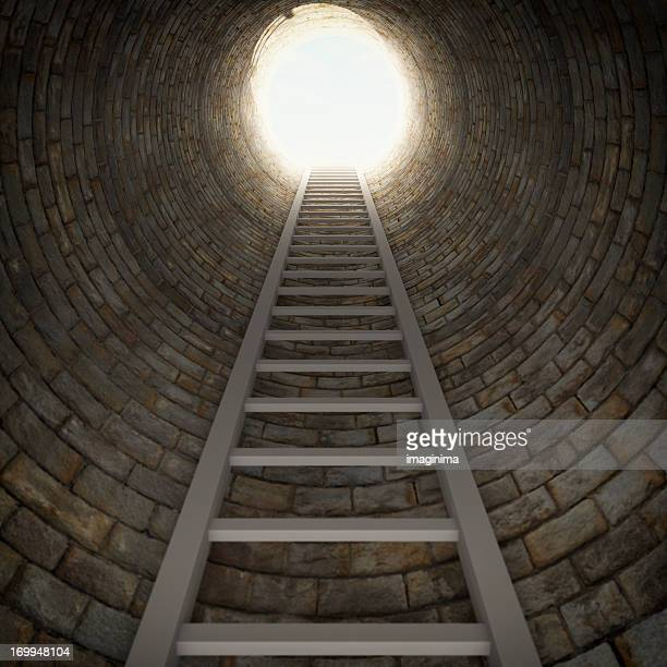 Ladder In A Dark Well