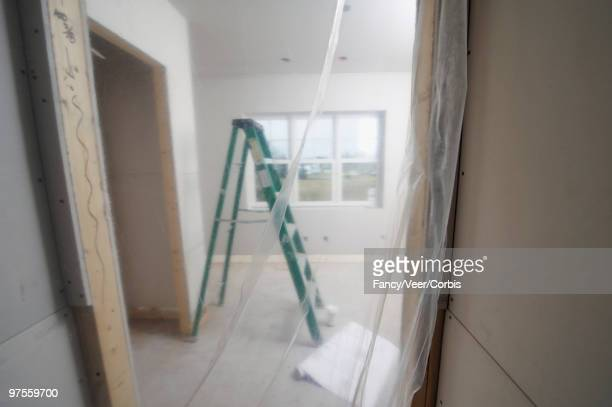 Ladder in unfinished home