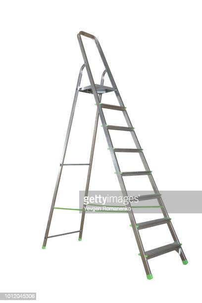 ladder isolated on white background - step ladder stock photos and pictures
