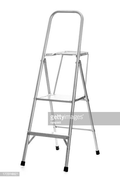 ladder isolated on white background - step ladder stock pictures, royalty-free photos & images