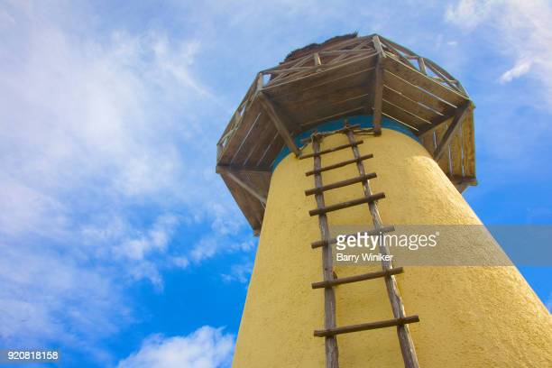 Ladder leading to top of lighthouse in Mexico
