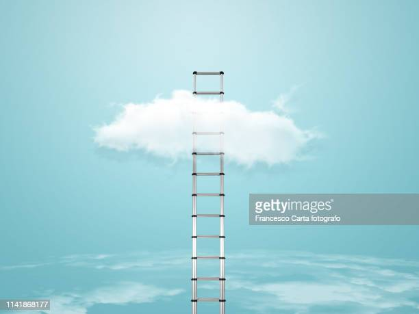 ladder of success - ladder of success stock pictures, royalty-free photos & images