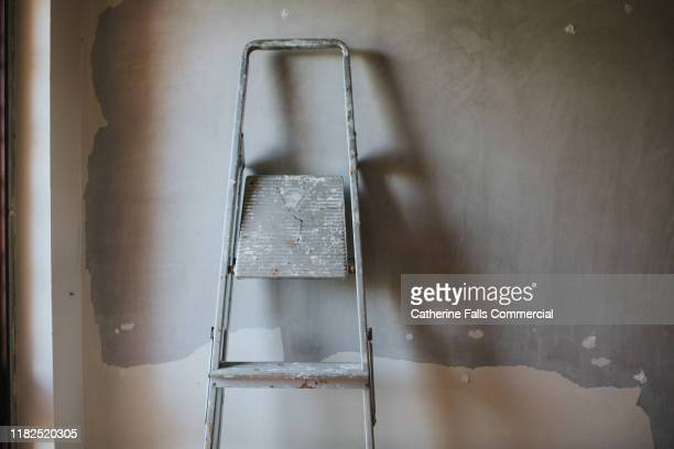 ladder - renovation stock pictures, royalty-free photos & images