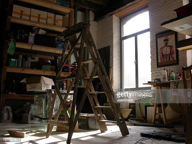 ladder stands alone