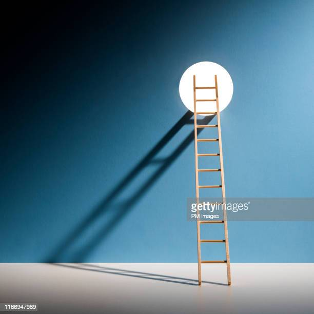ladder through hole in wall - chance stock pictures, royalty-free photos & images