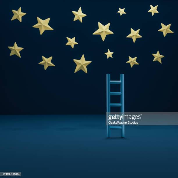 ladder to the stars - star shape stock pictures, royalty-free photos & images