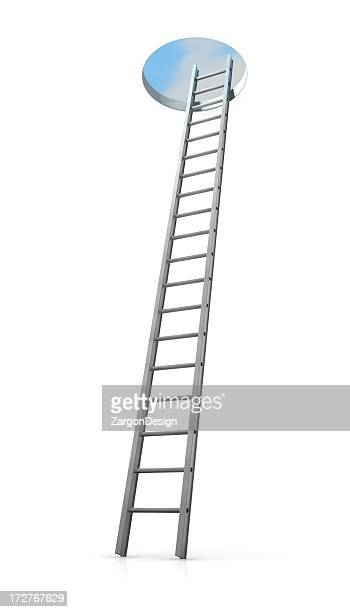ladder to the top - ladder stock pictures, royalty-free photos & images
