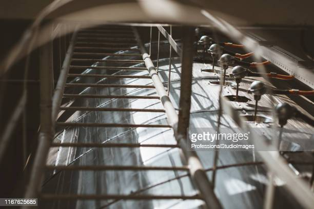 ladders at the factory - district heating plant stock pictures, royalty-free photos & images