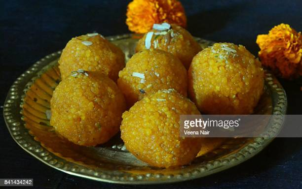 laddu/laddoo-indian sweet - diwali sweets stock photos and pictures