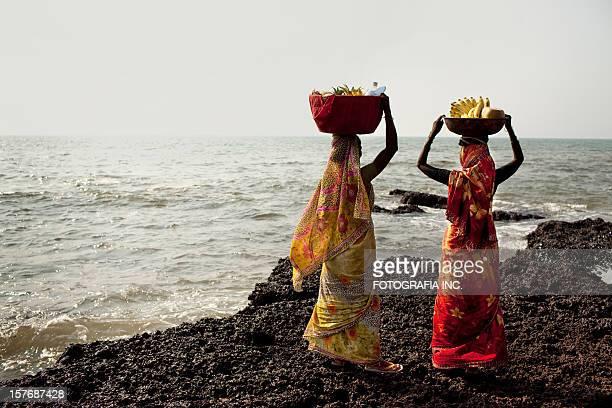 Ladies at the beach market
