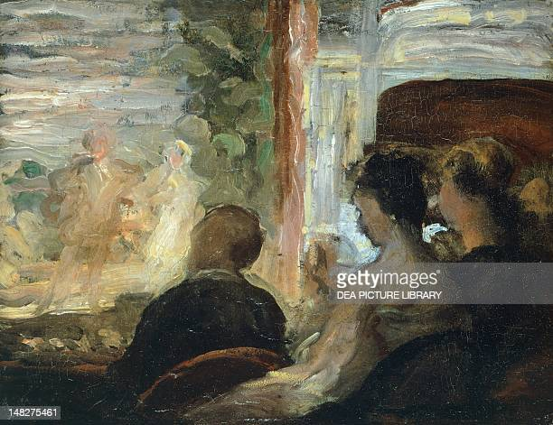 Ladies at the theatre by Honore Daumier Amburgo Hamburger Kunsthalle