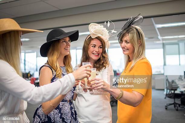 Ladies celebrate the races