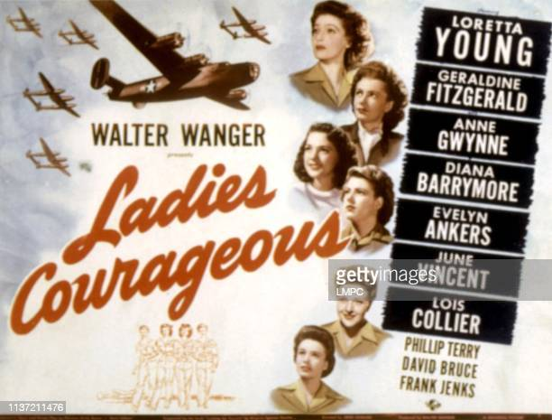 Ladies Courageous lobbycard Loretta Young Geraldine Fitzgerald Diana Barrymore Evelyn Ankers Lois Colliers 1944