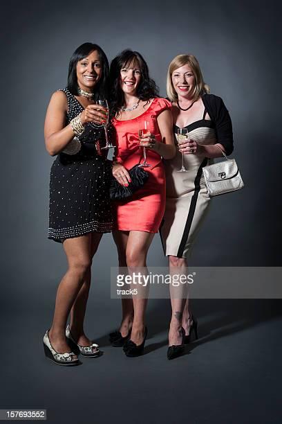 Señoras día: Con champán amigos