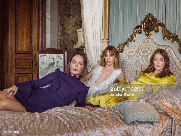 Ladies Eliza Alice and Violet Manners are photographed for Vanity Fair Magazine on June 24 2016 at Belvoir Castle their family home in Leicestershire...