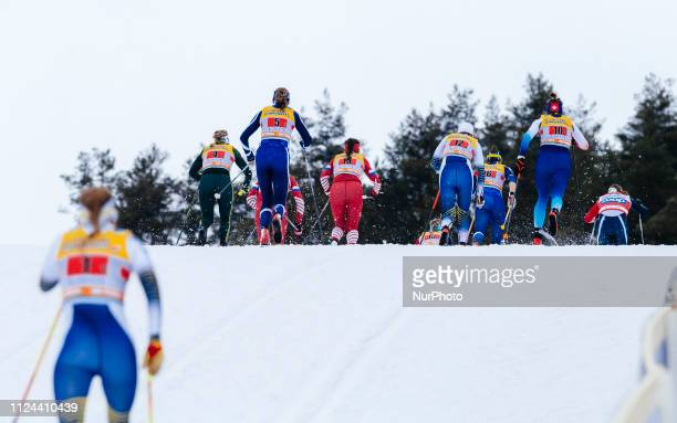 Ladies FIS Cross-Country World Cup 6 x 1.4 km Team Sprint Classic Final at the Lahti Ski Games in Lahti, Finland on 10 February 2019.