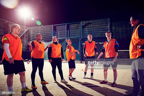 ladies football team during soccer training - leanincollection stock pictures, royalty-free photos & images