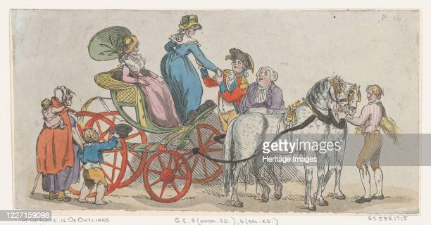 Ladies Getting Out of a Carriage June 1 1790 Artist Thomas Rowlandson
