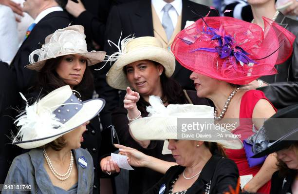 Ladies hat fashion during day four of the 2012 Royal Ascot meeting at Ascot Racecourse, Berkshire.
