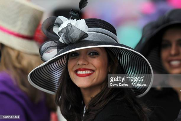 Ladies' hat fashions on Ladies Day during day three of the 2012 Royal Ascot meeting