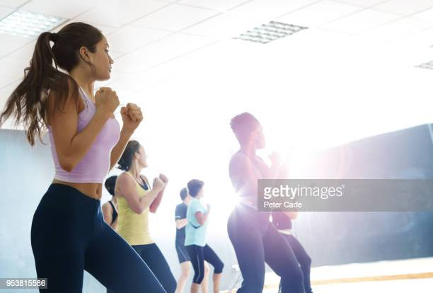 Ladies in exercise class