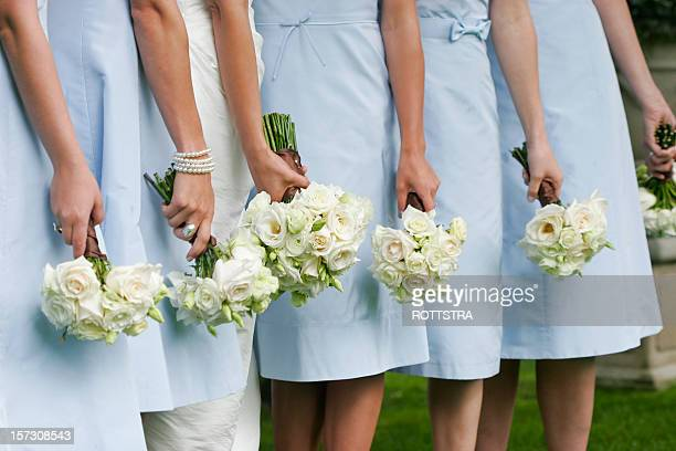 ladies in waiting - bridesmaid stock pictures, royalty-free photos & images