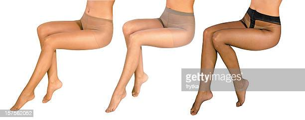 ladies' legs - tights stock pictures, royalty-free photos & images