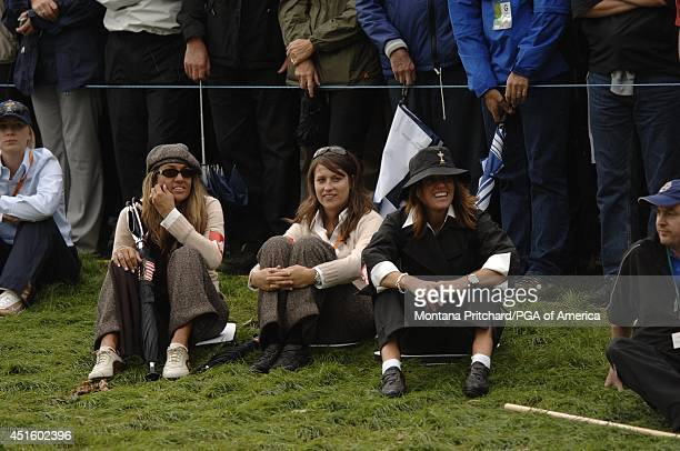 US Ladies Melissa Lehman Erin Noel and Amy DiMarco during afternoon Foursome matches for the Ryder Cup held at The KClub in Straffan Ireland Friday...