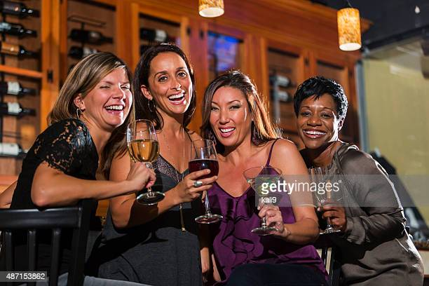 Ladies night out, having fun at a bar