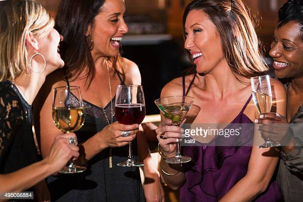 ladies night out, having fun at a bar - cocktail party stock pictures, royalty-free photos & images