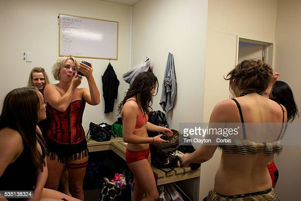 Ladies prepare for Pole Dancing during the Queenstown Pole Studios end of year show at the Queenstown Pole Studio Gorge Road Queenstown South Island...