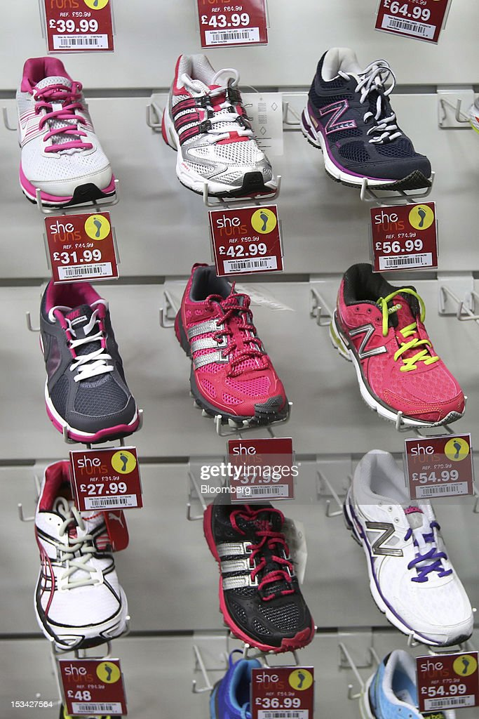 Ladies Running Shoes Are Displayed For Sale Inside A Sports Direct News Photo Getty Images