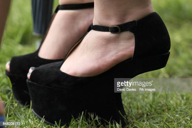 Ladies shoe fashion at Royal Ascot on Ladies Day