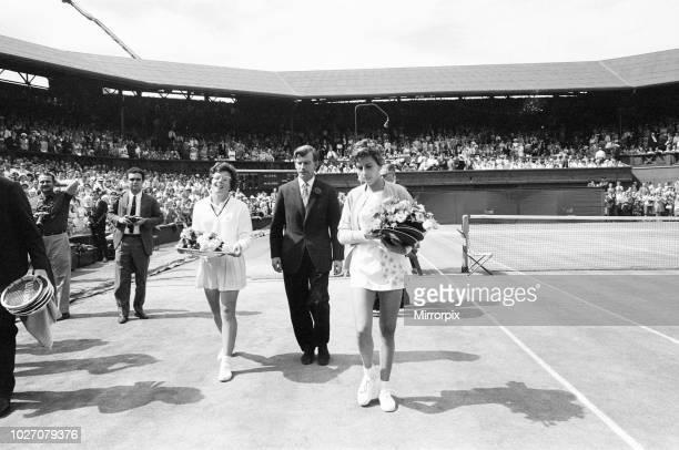 Ladies Singles Final Wimbledon Billie Jean King v Maria Bueno Wimbledon Tennis Championships Saturday 2nd July 1966 Billie Jean King wins in three...