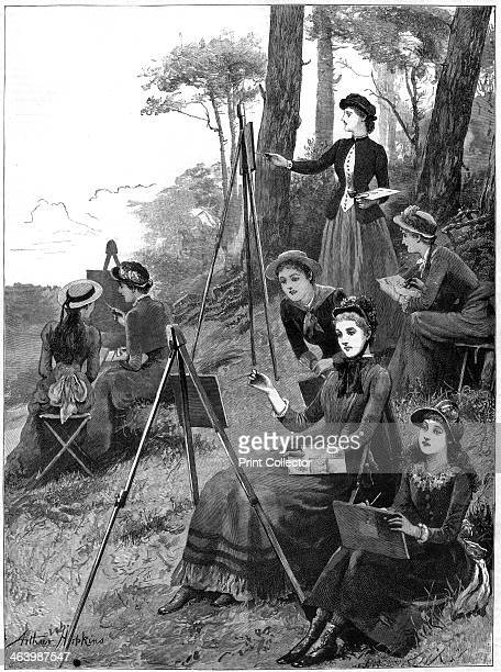 A ladies' sketching club 1885 From The Graphic