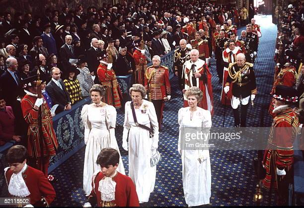 Ladiesinwaiting Diana Lady Farnham Duchess Of Grafton Lady Elton At The State Opening Of Parliament
