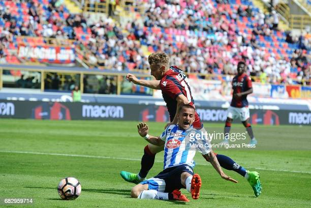 Ladislav Kejci of Bologna FC in action during the Serie A match between Bologna FC and Pescara Calcio at Stadio Renato Dall'Ara on May 14 2017 in...
