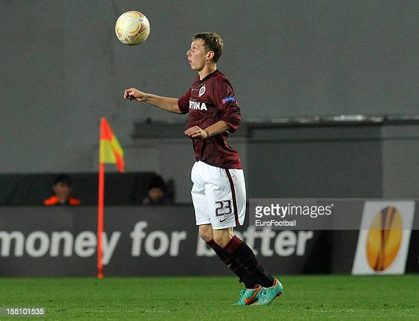 Ladislav Krejci of AC Sparta Praha in action during the UEFA Europa League group stage match between AC Sparta Praha and Hapoel Kiryat Shmona FC held...