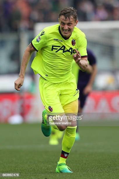 Ladislav Krejci of Bologna FC in action during the Serie A match between ACF Fiorentina and Bologna FC at Stadio Artemio Franchi on April 2 2017 in...