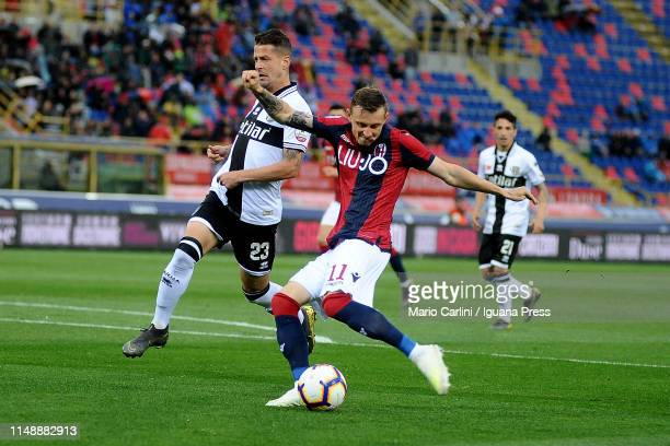 Ladislav Krejci of Bologna FC in action during the Serie A match between Bologna FC and Parma Calcio at Stadio Renato Dall'Ara on May 13 2019 in...